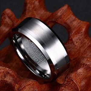 Tungsten Men's Carbide Stainless Steel Ring.